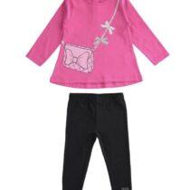 iDO Pink & Black Leggings Set
