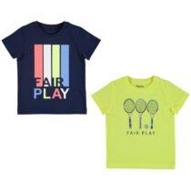Mayoral Set Of 2 Short Sleeve Fair Play T-Shirts 3054