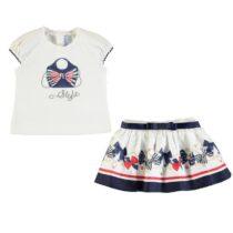 Mayoral Print design t-shirt and skirt set 1948