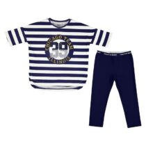 Mayoral Striped t-shirt and leggings set 6718
