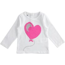 iDO 100% cotton girl t-shirt with turn and shine sequins J360