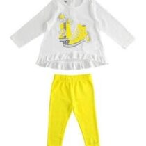 iDO Stretch cotton two-piece girl set with t-shirt and leggings J272