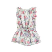 Mayoral Chiffon Flower Print Playsuit 3814