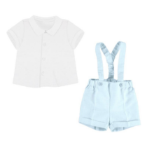 Mayoral Shirt and shorts with braces set 1266