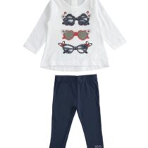 iDO Stretch cotton two-piece girl set with long sleeved t-shirt J273