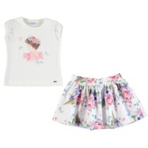 Mayoral Floral T-shirt And Skirt Set 3963