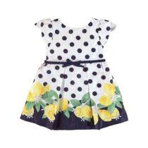 Mayoral Polka Dot Dress With Lemons Print 3934