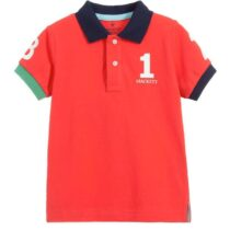 Hackett London Number Print Short Sleeved Polo Shirt