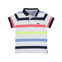 Mayoral Short Sleeve Block Stripe Polo Shirt 3148