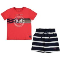 Mayoral T-Shirt And Striped Shorts Set 3620