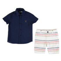 Mayoral Shirt And Striped Shorts Set 3269