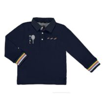 Mayoral long sleeve plain polo shirt with detailing 3157