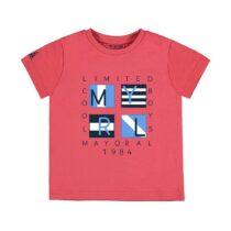 Mayoral short sleeve appliqué t shirt 3056