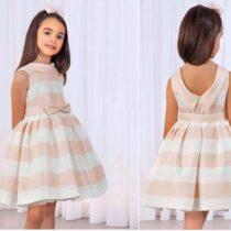 Abel & Lulu blush stripe dress