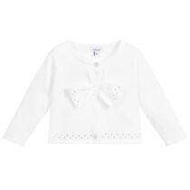 Absorba white Swarovski cardigan 9Q18022