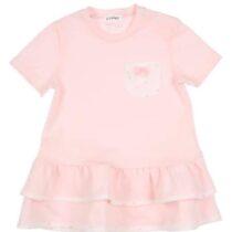 GYMP pink tiered hem dress 0407