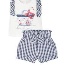 EMC navy/white Beach shorts set