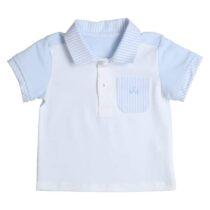 Gymp polo bicolor (white/light blue) 0112