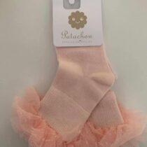 Patachou pink tulle cotton socks