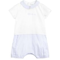 Absorba Baby Boy Pale Blue and White Cotton Shortie 9Q33121