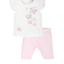 EMC Pink/white butterfly legging set