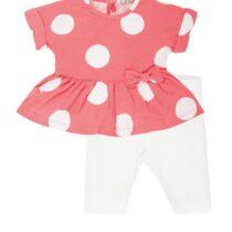 EMC pink/white spot legging set