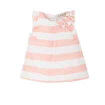EMC pink/white stripe dress