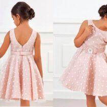 Abel & Lula blush dotted dress