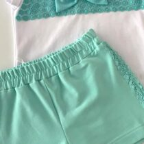 Daga Bow Top And Shorts Set
