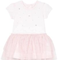 Baby Girl Pale Pink Swarovski Tulle Dress 9Q30102