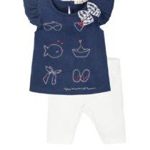 EMC navy/white Summer legging set
