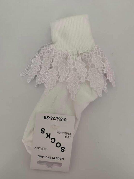 White lace sock