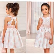Abel & Lulu blush spot dress