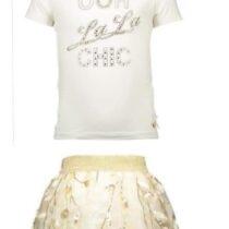Le Chic Ivory 'Ooh La La' T-Shirt And Sequin Skirt Set 294696-294694