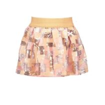Le Chic Pink And Gold Sequin Skirt 294726