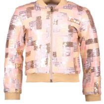 Le Chic Pink And Gold Sequined Bomber 294725