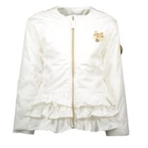 Le Chic White Ruffle Jacket 294737