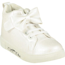 A Dee BOWTIQUE  White Bow High Tops
