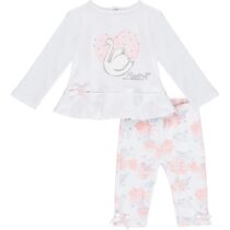 Little A IMOGEN swan legging set (bright white)