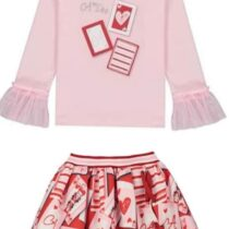 A Dee ELAINE ELIZABETH Queen of Hearts Skirt Set