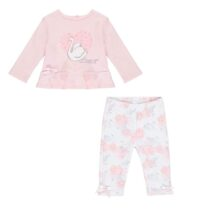 Little A IMOGEN swan legging set (baby pink)