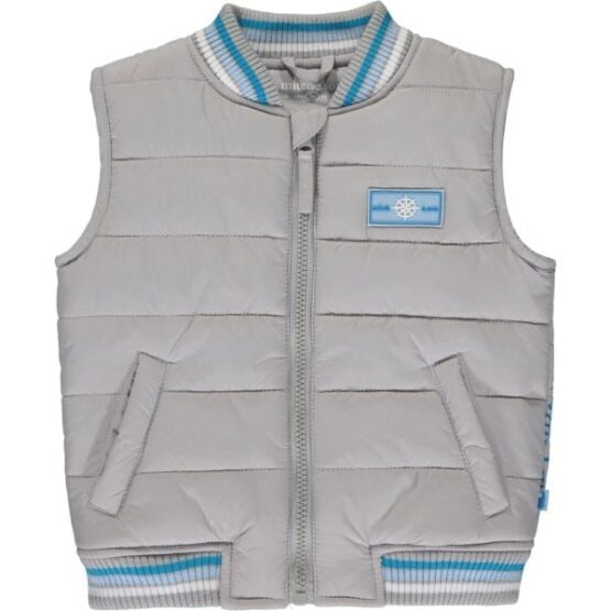 Mitch & son KEVIN Padded gilet with striped rib (Pre-order)