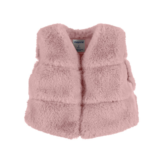Mayoral fur vest blush 4351