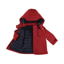Mayoral reversible coat red 2486