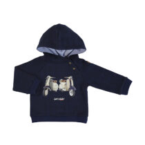 Mayoral plaid pullover with hoodie blue 2475
