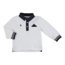 Mayoral L/s polo white 2121