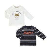 Mayoral L/s striped t shirt set cream 2048