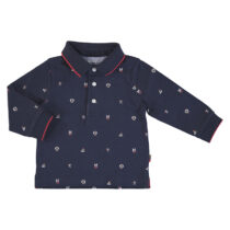 Mayoral L/s printed polo blue 2124