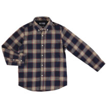 Mayoral L/s checked shirt navy 4147