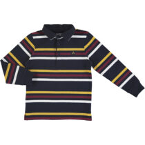Mayoral L/s stripes polo deep blue 4132
